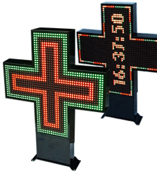 Cross-LED-Pharmacy-Displays