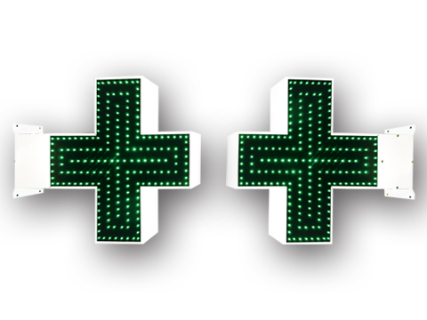 Triple Lined LED Electronic Pharmacy Cross