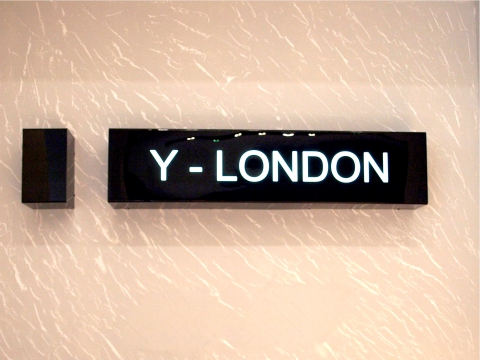 Y-London Indoor Sign
