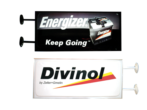Energizer Projecting Sign